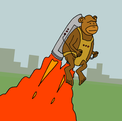 Monkey with a jetpack